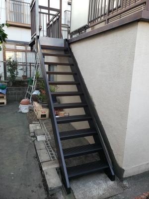 大分市 階段取り付け工事 施工After写真