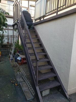 大分市 階段取り付け工事 施工Before写真