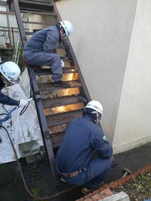 階段取り付け工事